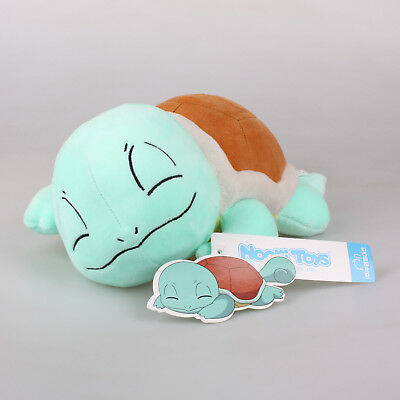 """New 11"""" 28Cm Licensed Pokemon Sleeping Squirtle Plush Toys Soft Stuffed Doll"""
