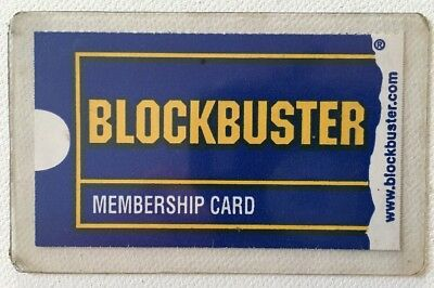 BLOCKBUSTER VIDEO - Membership Card Vintage