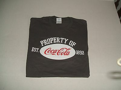 New Great Looking Dark Grey Coca-Cola T-Shirt XL
