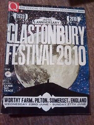 Official Glastonbury Festival Programme 2010 - 40th Anniversary - Acceptable
