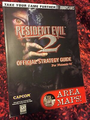 RESIDENT EVIL 2 Brady Games Official Strategy Guide for Nintendo 64