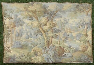 """Large Antique / vintage French Wall Hanging Tapestry Verdure 74"""" X 58"""""""