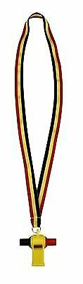 Schreuders sport 75PT Samba Whistle, unisex, 75PT, Black/Yellow/Red, Taglia uni