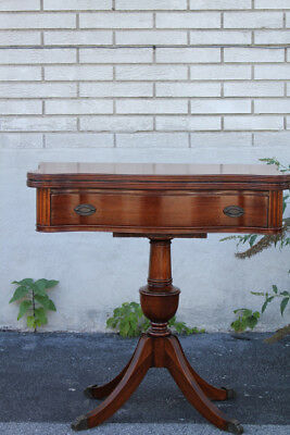 Antique Regency Style Mahogany Console Game Table