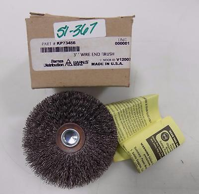 """Barnes 3"""" Wire End Brush Kp73456"""