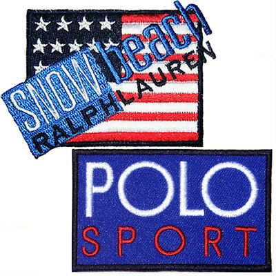 2 Polo Snow Beach + Sport Blue Iron On Jacket Shirt Hat Patch