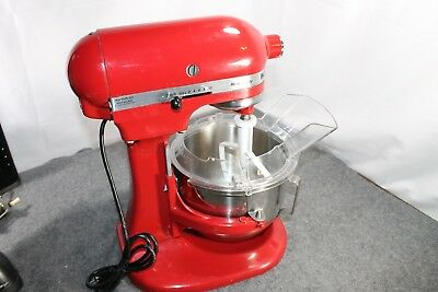 kitchenaid 39 artisan 39 red food mixer with numerous attachments picclick uk. Black Bedroom Furniture Sets. Home Design Ideas