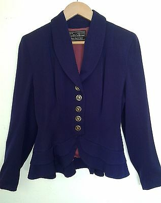 "Vintage 1940's Purple Wool Jacket ""The White House"" Excellent Condition - Medium"