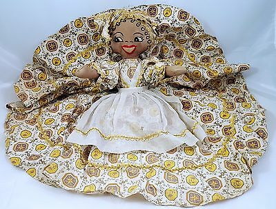 Vintage 1950s Black Americana Toaster Cover Afr/Amer Cloth Doll Embroidered Tag