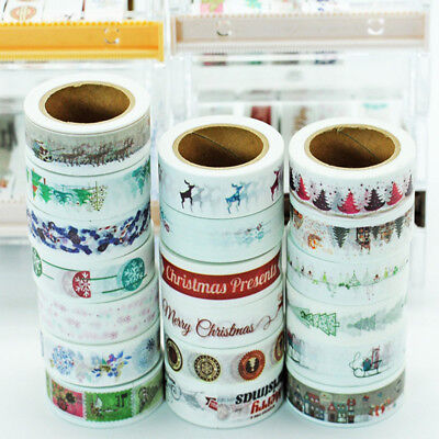 15mmX10m snow deer Christmas tree of washi masking tape tape scrapbooking ss