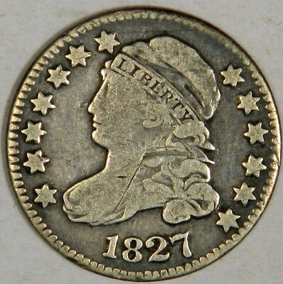 1827 Bust Dime - Nice Fine/vf Priced Right!