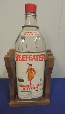One Gallon Beefeater Dry Gin Bottle with Stand