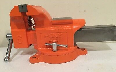 "Pony Jorgensen 6"" Swivel Base 6 Inch Bench Vise Clamp Heavy Duty With Anvil -New"