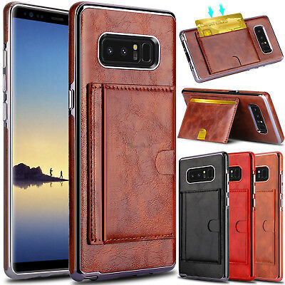 For Samsung Galaxy Note 8 Phone Case Card Wallet Leather Stand Slim Armor Cover