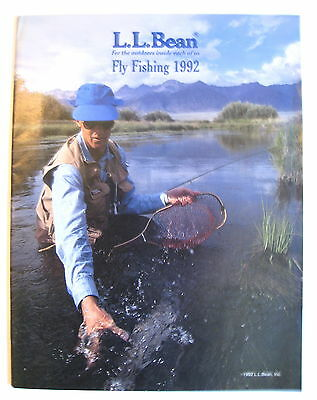 L L BEAN 1992 Fly Fishing Catalog Vintage Rods Reels Lures Boats Boots Waders