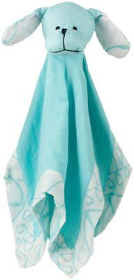 Aden and Anais Puppy Musy Mate Lovey NWT. Aqua color Unisex