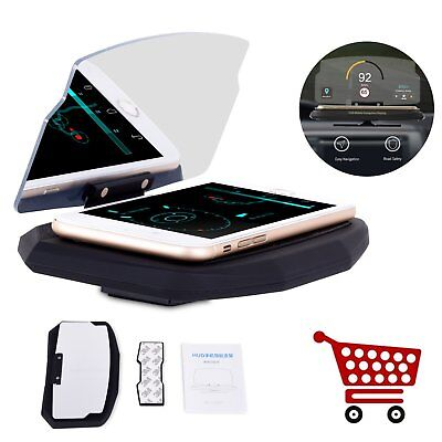 "6.5"" Car Mobile Phone Holder HUD Head Up Display Projector GPS Dashboard Mount"