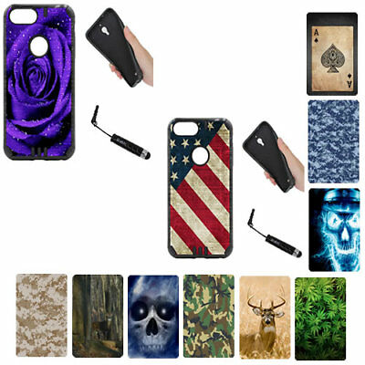 """For iPhone 8 Version (2017) """"4.7-inch"""" BLACK Dual Layer Hybrid Rugged Armor Case"""