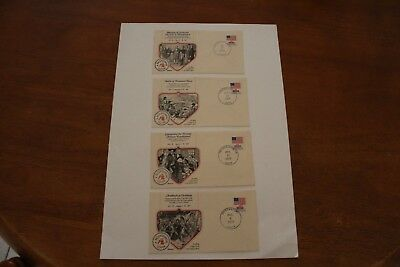 Usa Bicentenial - 1977 Stamp Covers (Four Envelopes)