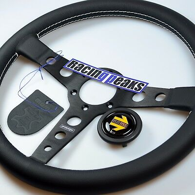 MOMO Prototipo Leather Steering Wheel 350mm Racing Sport Competition Tuning