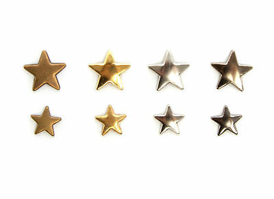 Iron on Hot Fix Star Metal Studs in Various Colours and Size for Different Uses