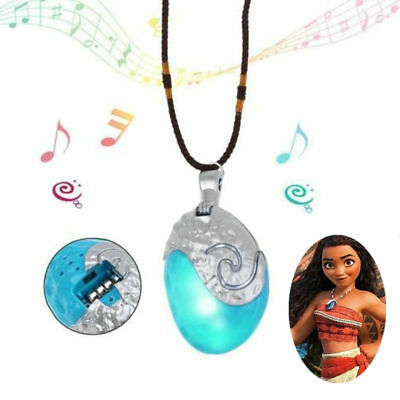 Glowing Music Moana Princess Vaiana Necklace Cosplay Props Pendant Jewelry Gifts