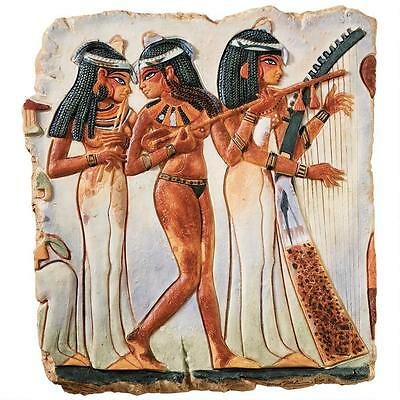 Wall Sculpture Egyptian The Temple Maidens Collectible Home Decor Hanging Resin