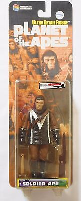 """PLANET OF THE APES ULTRA DETAIL FIGURE SOLDIER APE White """"M"""" ver. Medicom Toy"""