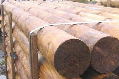100mm 4inch diameter 3.6m round wooden tanalised show jump pole