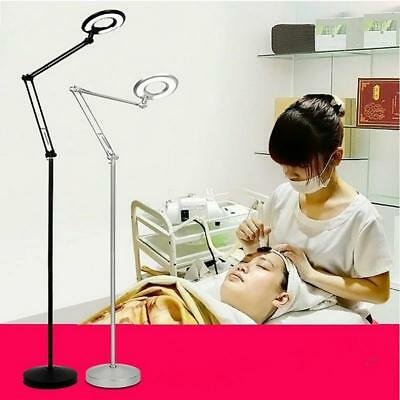 LED Lamp 8X Magnifier Light w/Floor Stand & Adjustable Dental Beauty Salon Spa