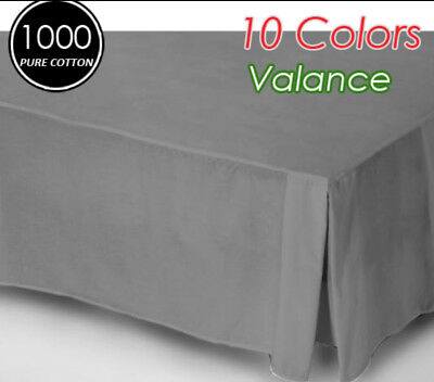 1000TC Egyptian Cotton High Quality Valance Queen Size-Pewter