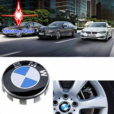 4Pcs Genuine BMW Emblem Logo Badge Hub Wheel Rim Center Cap 68mm Blue&White