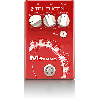 TC Helicon Mic Mechanic 2 Vocal Reverb Delay Pitch Correction Tone Effects Pedal