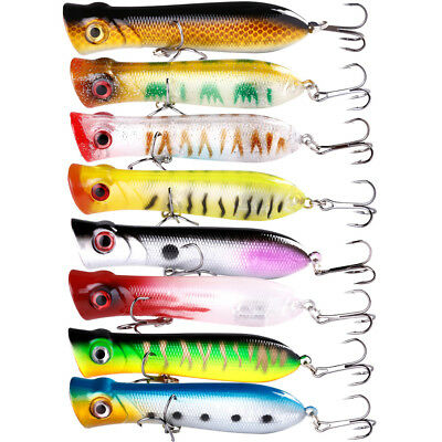 4in Popper Fishing Lures Bass Trout for Saltwater Freshwater Minnow Crankbaits