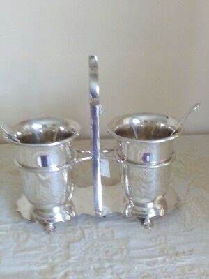 silver plated caviar/pickle server