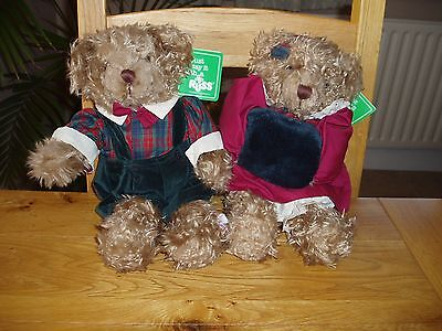 "Russ Bears ""Benjamin"" and ""Brittany"""