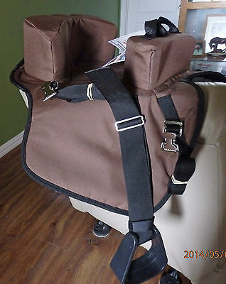 Abetta  Buddy Seat 27202br,child up to 50 lbs,fits behind english/western saddle