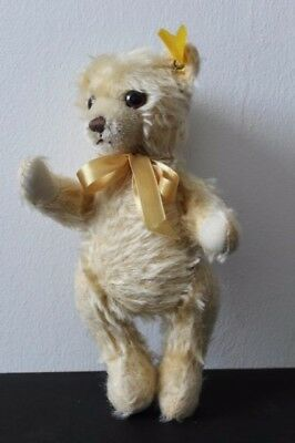"RARE Vintage Jointed 10"" / 27 cm  STEIFF Blond Mohair Teddy Bear 011733 Button"