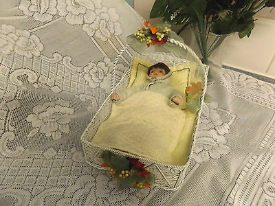 Vintage Baby With Basket  Rock A By Baby To Sleep.