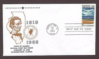 mjstampshobby 1968 US State of Illinois FDC MNH (Lot4922)