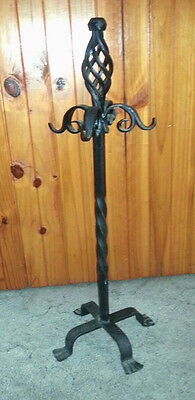 VINTAGE FRENCH STYLE FIRETOOL STAND - HEAVY WROUGHT IRON - STAND ONLY - 800mm
