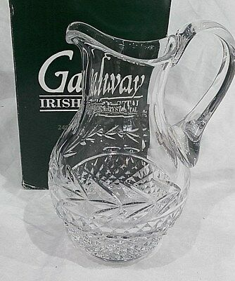 Galway Irish Crystal LEAH Water Pitcher, 1 Litre, 22cm.