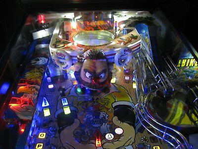 Popeye Pinball Machine with new LEDS upgrades