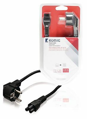 Konig Power cable CEE 7/4 angled (schuko) to IEC-320-C5 2m black