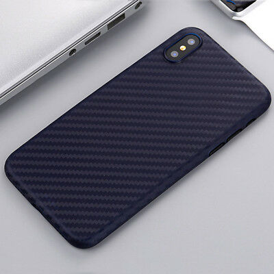 0.3mm Ultra Thin Slim Matte Carbon Fiber Hard Back Case Cover For Apple iPhone X