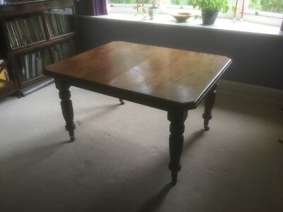 """Victorian Extending Dining Room Table approx 50""""x41"""" or 68""""x41"""" with leaf."""