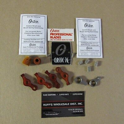 Oster A-5 Classic 76 4-Levers, 2-Links 2-Brush Sets 4-felts 2-gears 76 namplate