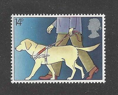 Art Postage Stamp Yellow LABRADOR RETRIEVER Seeing Eye Guide Dog Blind UK MNH