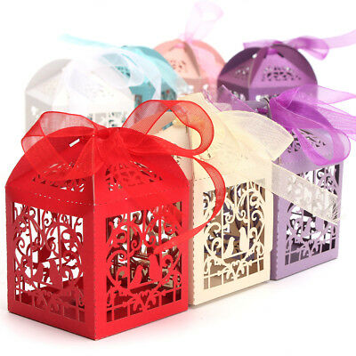 10pcs Pierced Birdcage Candy Sweet Package Gift Box Wedding Party Cake