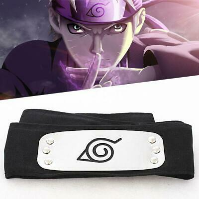 Naruto Black Leaf Village Konoha Ninja Headband Kakashi Sasuke Sakura Cosplay UP